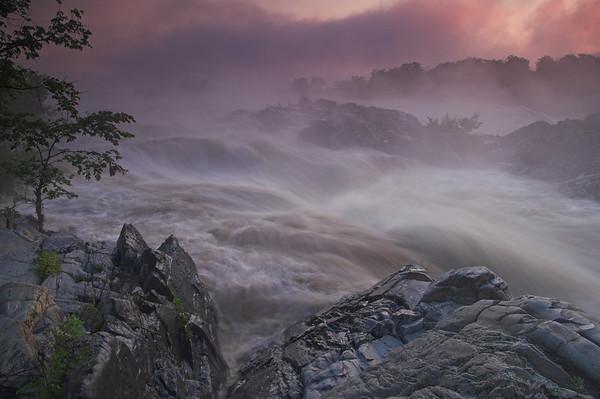 Great Falls National Park , morning, evening, nightime